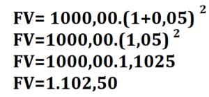 Resolução matemática do exemplo da calculadora