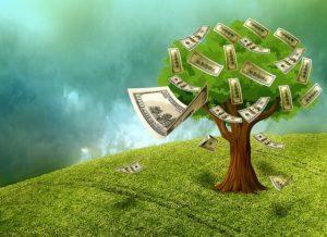 Imagem de um Árvore brotando dinheiro