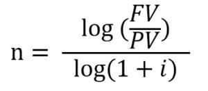 fórmula para calcular o tempo de aplicação