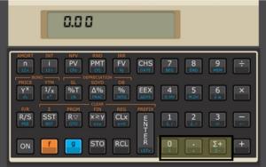 Teclas de Hp 12c para calcular a média e o desvio padrão