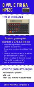 Passo a passo calcular TIR e VPl na Hp 12c