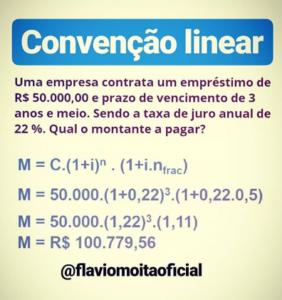 Matemática financeira - exemplo de convenção linear