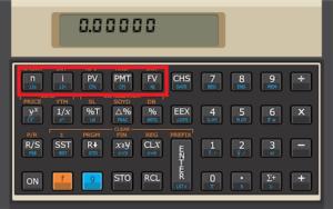 taxas equivalentes na hp 12c - teclas usadas