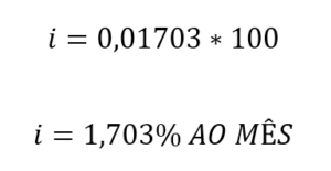 taxa percentual de retorno do investimento