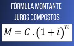 Fórmula para calcular o montante no regime de juros compostos
