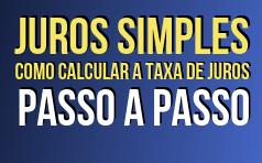 Como calcular a taxa de juros simples com fórmula